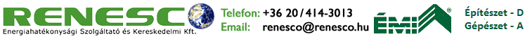 RENESCO Épületenergetikai Szolgáltató és Kereskedelmi Kft.